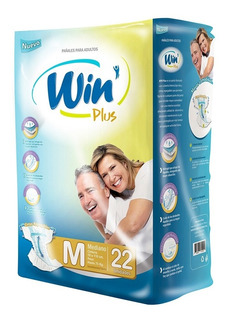 Pack 44u Pañales Win Plus Adulto Talla M, - Deltamed