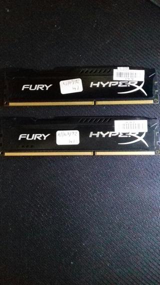 Kit 2 Módulos De Memoria Ram Kingston Hyperx Fury