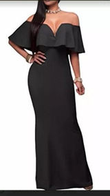 Hermoso Vestido De Fiesta Campesino Negro. Envio Gratis!
