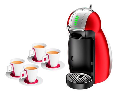 Cafetera Dolce Gusto Genio 2 Automática + 4 Tazas Orig Loi