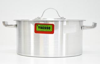 Cacerola Gastrnomica Aluminio Con Tapa Tresso Nro28 8,6l