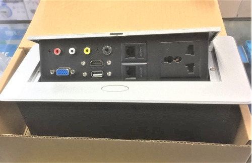 Placa Multimedia Escritorio Hdmi Vga Usb 2 Red Plug 2 Power