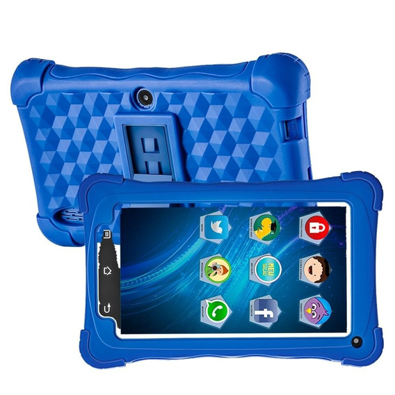 Tablet Mondial Tb-18 Kids Azul, Tela 7 , Wifi, 2mp, 8gb