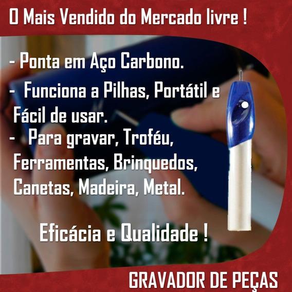 Gravador Peças Manual Caneta Ponta Aço Portátil Pilha Metal