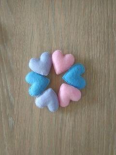 50 Corações Em Feltro (mini) Lembrancinha Decoração