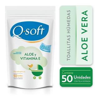 Toallitas Húmedas Q-soft Aloe Vera Doypack (24 Paquetes)