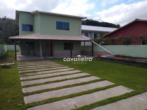 Casa Em Ponta Negra Pertinho Do Canal, Com Terreno De 480m² E Construção De 300 M² - Ca3745