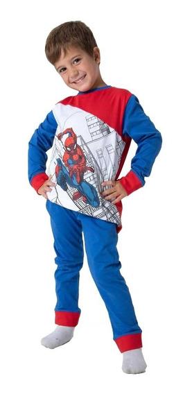 Pijama Spiderman Hombre Araña Nene Licencia Oficial Marvel