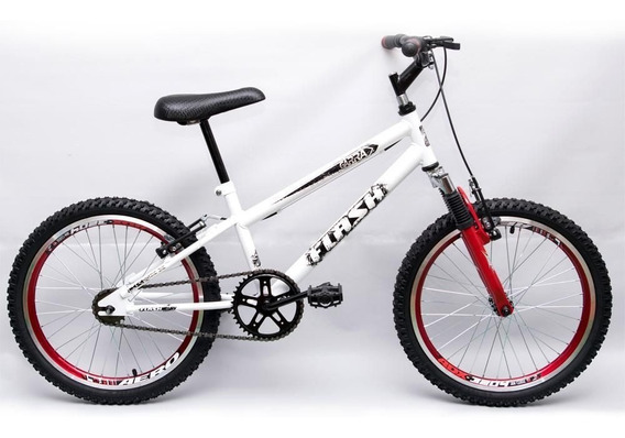 Bicicleta Ultra Cross Bmx Aro 20 Suspensão V-break Branca