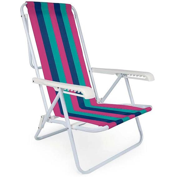 Cadeira Mor Reclinável Ferro 8 Posições Colorida