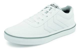 Tenis Escolares Para Joven Marca Genlim Modelo 515 Blanco