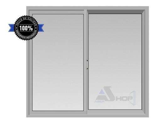 Imagen 1 de 9 de Ventana De Aluminio 150x110 Blanca Vidrio Entero 3mm (pr)
