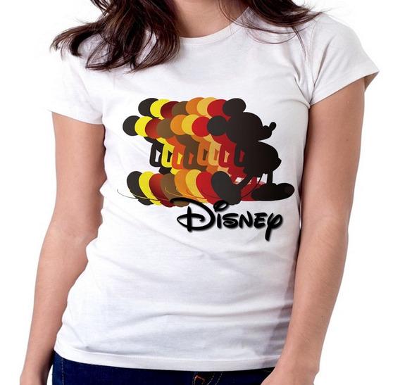 Blusa Feminina Baby Look Disney Mickey Minie Cópias Tamanho