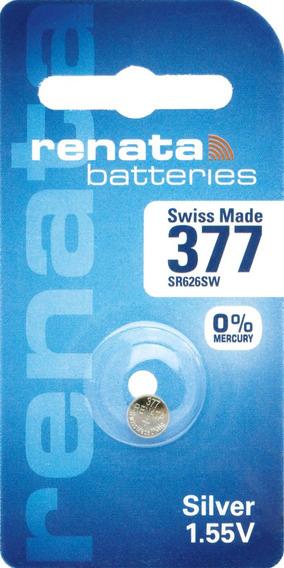Pilhas Baterias 377, Relógio 1.55v Renata Sr626s Original