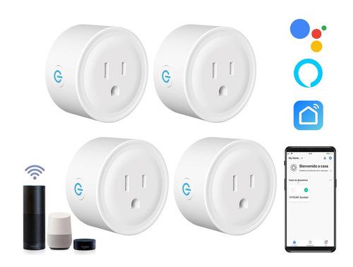 Imagen 1 de 10 de Hyiear Enchufe Inteligente Con Wifi Para Alexa,google Home