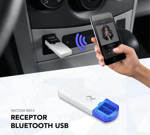 Receptor Adaptador Audio Bluetooth Usb Pen Auto Cel Spotify