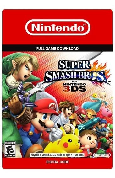 Super Smash Bros 3ds - Nintendo 3ds - Código Digital