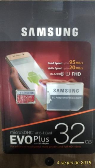Micro Sd 32 Gb Samsung Classe 10 + Adaptador Sd - 32gb