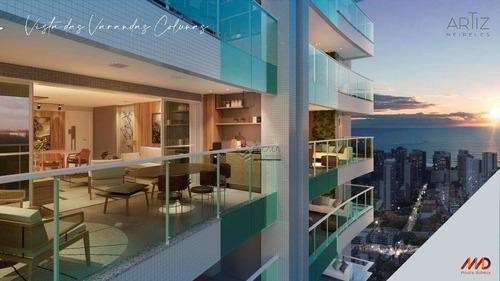 Imagem 1 de 30 de Apartamento Com 4 Quartos À Venda, 155 M², Alto Padrão, 3 Vagas, Financia - Meireles - Fortaleza/ce - Ap1935