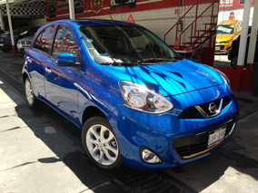 Nissan March Advance Std A/ac 2016 Azul Eléctrico