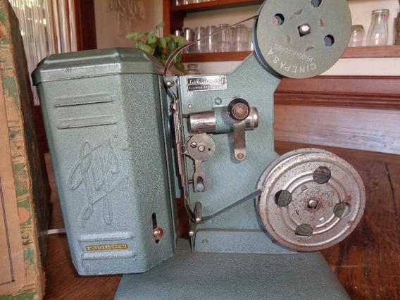 Antiguo Proyector Cine Familiar 16mm Marca Lys C/6 Peliculas