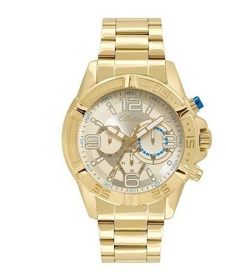 Relógio Condor Masculino Dourado Covd54au/4d Original