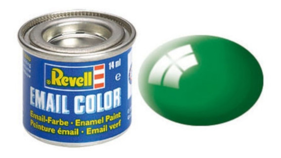 Tinta Enamel Emerald Green Gloss Ral 6029 14ml Revell 32161