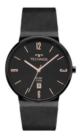 Relógio Technos Preto Slim Preto Gm10yj/4p
