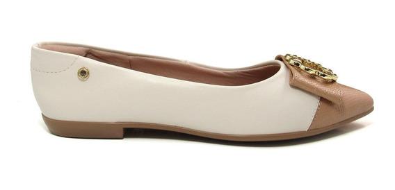Sapatilha Bico Fino Feminina Olfer Shoes 1226-086 Cap Toe