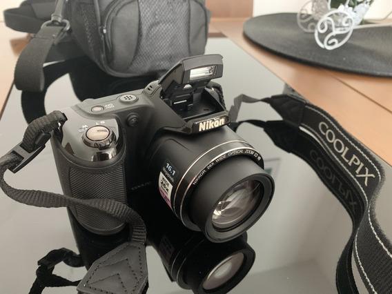 Camera Fotográfica Nikon Coolpix L320 + Bolsa Para Camera