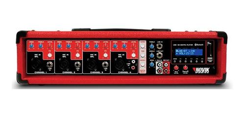 Consola Mixer Potenciado Novik Nvk4300bt 4c150w Bluetooth Sm