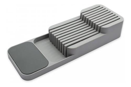 Imagen 1 de 8 de Organizador De Cuchillos Mesada Cajón 2 Pisos Smart Compacto