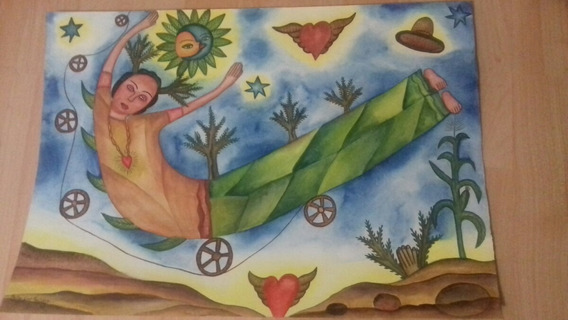 Pedro Cruz Pacheco Acuarela Oaxaca Arte