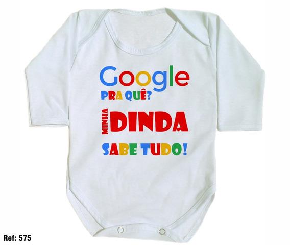 Body Para Bebê Google Pra Quê? Minha Dinda Sabe Tudo