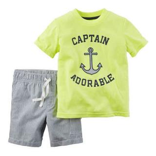 Conjunto Carters 2 Piezas Bebe Captain Adorable 12 Meses