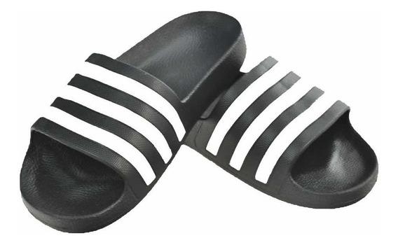 Sandalias adidas Adilette Aqua Negras Caballero Original Ven