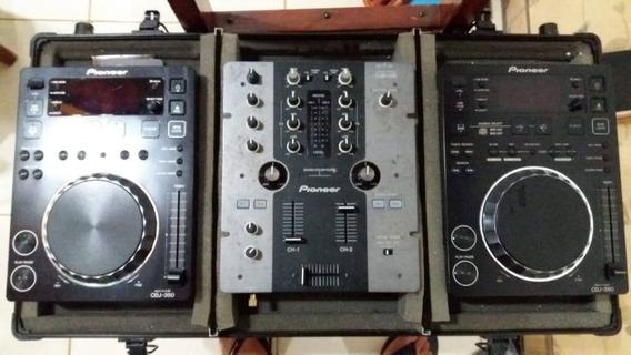 Cdj 350 Pioneer + Mixer Djm 250 + Case