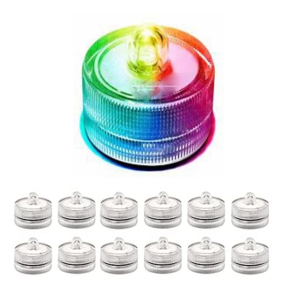 Vela X12 Sumergible Led A Pila Multicolor Souvenir Automatic