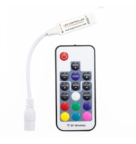 Controlador Rf Wireless Com Controle Fita Led Rgb 5050 3528