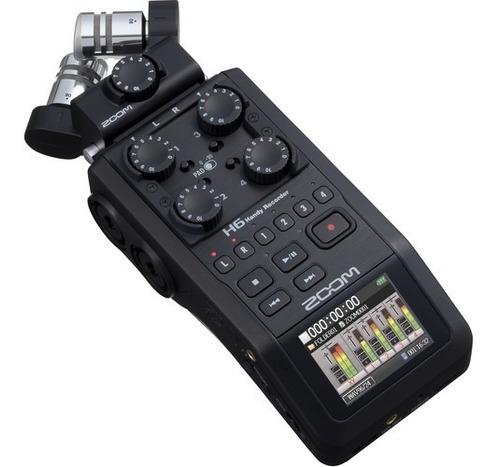 Imagem 1 de 10 de Gravador Digital Zoom H6 Black Finish 6-track 12x S/juros