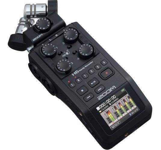 Gravador Digital Zoom H6 Black Finish 6-track 12x S/juros