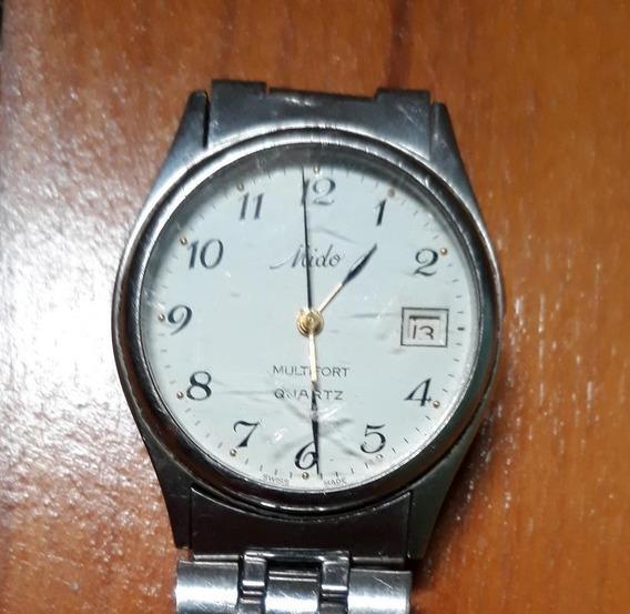 Raro Relógio Mido Quartz Multifort O2f 629