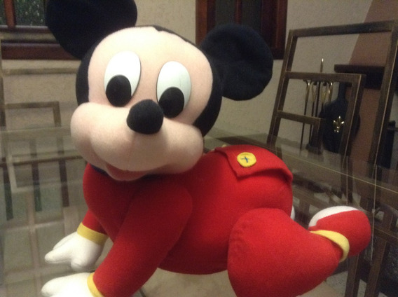 Lindo Mickey (baby) Engatinha De Pelúcia. A Pilha (mattel)