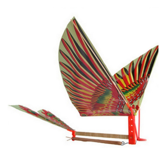 Avião Pássaro Movido A Elástico Planador Ornitóptero