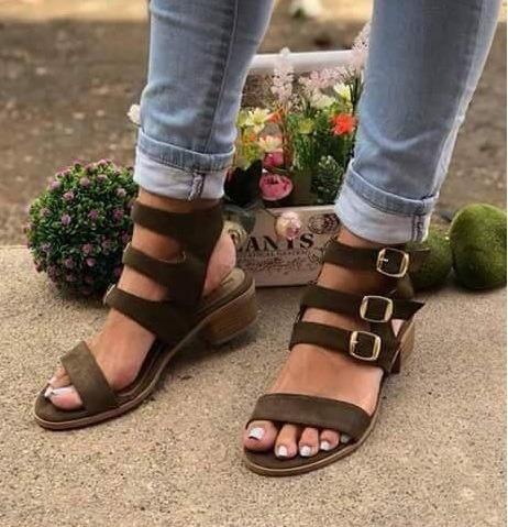 Zapatos Dama Huarache Evillas Color Musgo