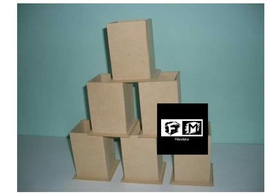 Cajitas De 8x8x8 Con Tapa De Fibrofacil