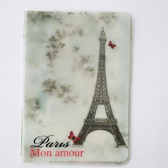Capa Passaporte França Paris Torre Eiffel Mon Amour Vintage@