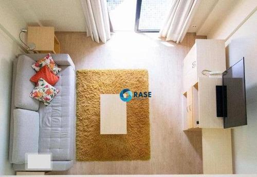 Flat Com 1 Dormitório Para Alugar, 55 M² Por R$ 3.000,00 - Moema - São Paulo/sp - Fl0120