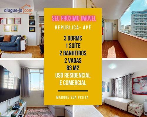 Imagem 1 de 30 de Apartamento Uso Residencial E Comercial, Centro De São Paulo, 4 Salas, 2 Wc, 2 Vagas - Sa0959