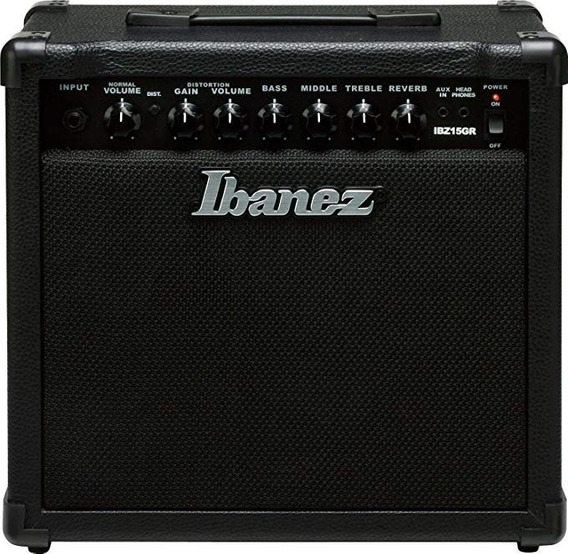 Ibanez Electric Guitarra Mini Amplificador, Black (ibzgr)